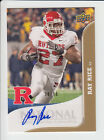 2010 UPPER DECK RAY RICE AUTOGRAPH NATIONAL CONVENTION 38 90 RUTGERS RAVENS NM+