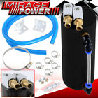 Universal Performance Cylinder Style Aluminum Engine Oil Catch Can/Tank Black
