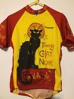 Tournee Du Chat Noir Bicycle Jersey XL Retro Image Apparel Cycling Jersey