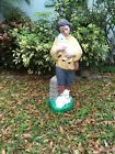 Vintage Shepherd Nativity Boy With Lamb 33 Light Up Blow Mold Holiday TPI 1997