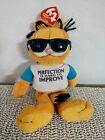 """Ty Beanie Baby GARFIELD - the """"Perfection Is Hard To Improve"""" w/ TAG"""