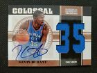 2010-11 KEVIN DURANT NATIONAL TREASURES COLOSSAL AUTO SP MATERIAL SIGNATURES # 6