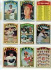 1972 72 Topps LOT YOU PICK SINGLES 25 COMPLETE YOUR SET Updated 5 23 2020