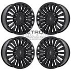 22 LINCOLN NAVIGATOR GLOSS BLACK WHEELS RIMS FACTORY OEM 10026 2003 2019 SET