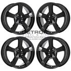 17 CHEVROLET VOLT GLOSS BLACK WHEELS RIMS FACTORY OEM 5723 2016 2019 SET
