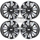 22 CADILLAC ESCALADE GLOSS BLACK WHEELS RIMS FACTORY OEM 4740 2015 2020 SET