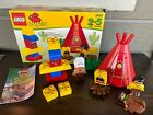 Lego Duplo 2432 Big Chief Native American Western Indian Teepee Complete w Box