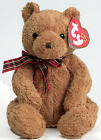 Ty Beanie Baby Collection WOODY Teddy Bear Plaid Bow Ribbon Stitch Nose Retired