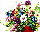 Colorful Flowers DIY Paint By Numbers Kit Acrylic Painting On Canvas