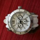 Nautica A16642G Watch Round White Dial Stainless Steel Case White Rubber Strap