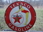 OLD RARE VINTAGE 1952 TEXACO GASOLINE PORCELAIN GAS PUMP CHEERLEADER TEXAS CO.