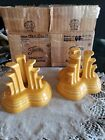 Fiesta Marigold Pyramid Candle Holders new with box FREE SHIPPING!