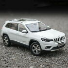 1 18 Scale Jeep Cherokee SUV 2019 White Diecast Car Model Toy Collection Gift