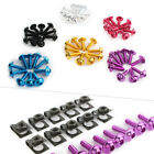 10pcs M5 Body Fairing Bolts Fastener Clips Screw Set Universal Fit Scooter