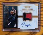JRUE HOLIDAY ON CARD AUTOGRAPH 3 COLORED PATCH # 11 25 !! PELICANS 17'-18'!!
