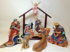 Nativity Set Religious Jesus Creche Wisemen Kings LARGE 13pc Set Manger Catholic