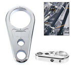 Chrome Aluminum 25mm Motorcycles Handle bar Brake Clutch Cable Wire Clamp Clip