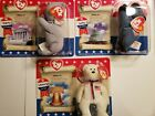 Beanie Babies McDonalds American Trio Lefty,Righty,Libearty New in Pkg