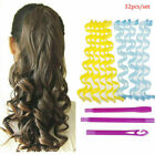 25 65cm Water Wave Magic Curlers Formers Leverage Spiral Hairdressing Tool USA