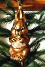 Lauscha Glas Creation Happy Brown Easter Bunny Glass Christmas Ornament Germany