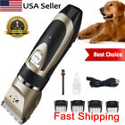 Dog Clippers Grooming Kit Professional Electric Pet Clipper Rechargeable US