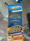 3 NEW Hot Wheels Wall Tracks Display Rack with 1 Car Stores 5 Cars Hangs on Wall