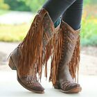 CORRAL STUDDED FRINGE BOOTS, WOMENS SIZE 8 *NEW IN BOX*