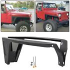 Front Fenders with LED Eagle Light Black Textured Fit 87 96 Jeep Wrangler YJ