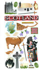 Scotland Travel Stickers Hadrians Wall shortbread castle whiskey bagpipe