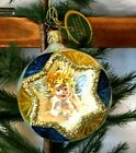 Inge Glas Baby Jesus A Star is Brightly Shining Glass Reflector Ornament Germany