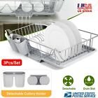 Large Capacity Dish Drainer Drying Rack Kitchen Cutlery Holder Plate Drain Board