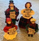 Set Kurt Adler Christmas Vintage Figurines 4 Caroler Choir Set Paper Mache