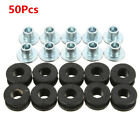 50PCS Rubber&Steel Motorcycle Grommet Fairing Bolt Bushing For Honda Kawasaki
