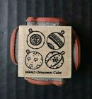 Northwoods Rubber Stamp Cube Christmas Tree Ornaments Xmas Holiday