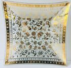 Georges Briard Large Signed Gold Persian Garden Glass Serving Tray Mid Century