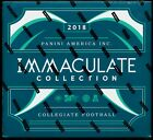 2018 Panini IMMACULATE COLLEGIATE COLLECTION Football Factory Sealed HOBBY Box