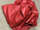 F27 Leather Cow Hide Cowhide Upholstery Craft Fabric Caboose Red 58 sq ft