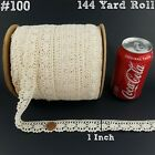 WHOLESALE 1 Inch Beige Cotton Old Lace Trim 144 Yard Roll 100