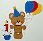Premade Die Cut Paper Piecing for Scrapbook Pages First Birthday Bear Party Baby