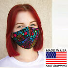 Face Mask reusable Cotton small adult teens hand made I Love My Cat colorful
