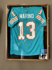 Dan Marino Autographed Jersey And Oak And Glass Deep Display Case