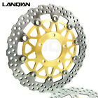 Gold Front Brake Disc Rotors Pair Fit KAWASAKI ZX-14R ZZR1400 GTR1400 2006-2014