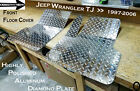 Fits Jeep TJ Wrangler Aluminum Diamond Plate Front Floor Covers
