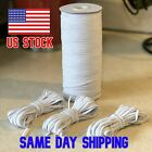 White Flat Elastic 1 8 Inch 3mm 10 Yards Face Mask Free Shipping USA Seller