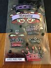 CROWNS Royalty Pageant Homecoming King Queen Princess Jewel Sticko Stickers