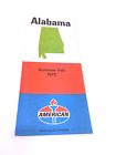Vintage 1972 AMOCO American Oil Gasoline Alabama Road Map
