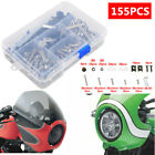 155pcs Motorcycle Scooter Shell Fairing Bolt Plate Screws Nut Stainless Thread