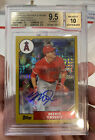 2017 Topps Silver Pack '87 Chrome Mike Trout Auto 25 BGS 9.5