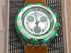 Vintage Swatch Wristwatch Aquachrono Chronograph and Date SBK101 New in Box