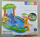 INTEX Jungle Play Center Inflatable Kid Swimming Pool + Sprayer 85 X 74 X 49